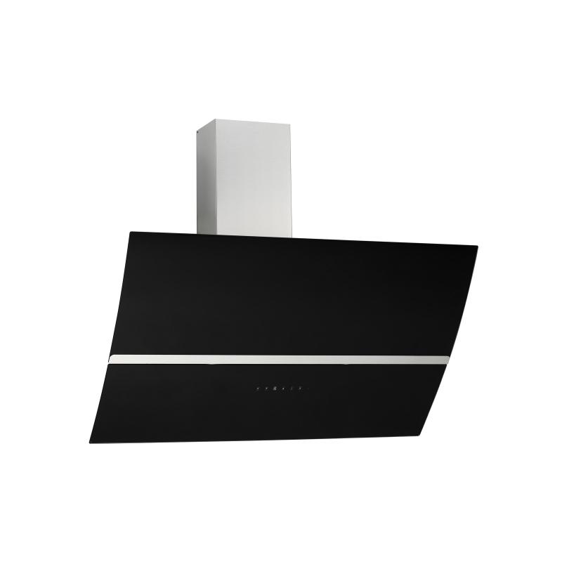 kopffreihaube jasko schwarz glas 90 cm umluft inkl 3 p kohlefilter ihmsen k chenger te. Black Bedroom Furniture Sets. Home Design Ideas