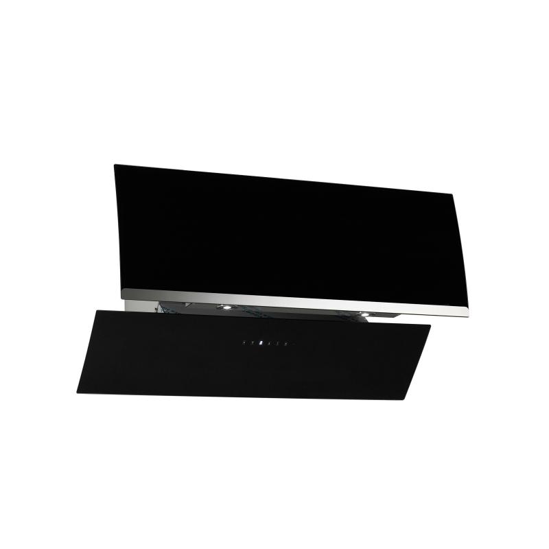 kopffreihaube jasko schwarz glas 90 cm umluft inkl 5 p kohlefilter ihmsen k chenger te. Black Bedroom Furniture Sets. Home Design Ideas