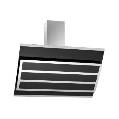 kopffreihaube kosmea schwarz glas 90 cm umluft inkl 5 p kohlefilter ihmsen k chenger te. Black Bedroom Furniture Sets. Home Design Ideas