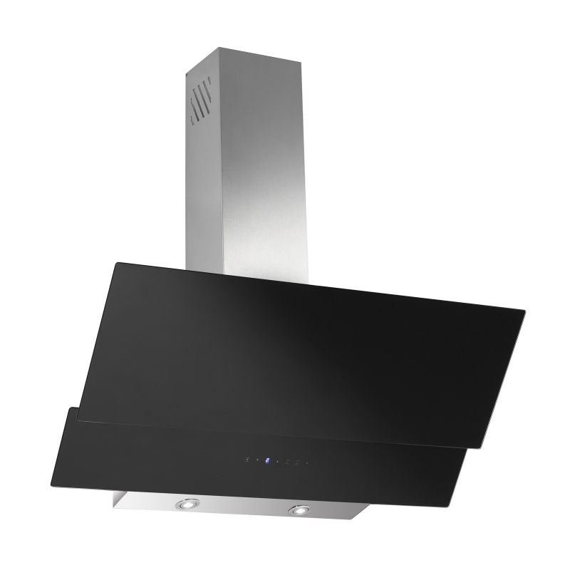 kopffreihaube akazia schwarz glas 90 cm umluft inkl 1 p kohlefilter ihmsen k chenger te. Black Bedroom Furniture Sets. Home Design Ideas