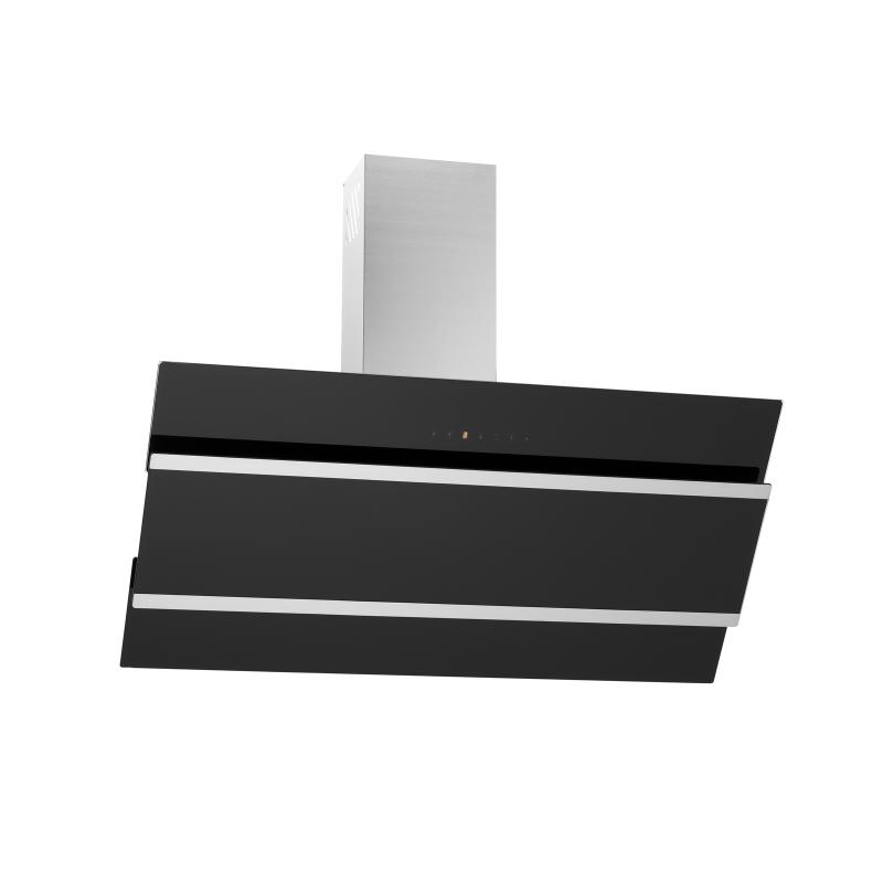 dunstabzugshaube kopffreihaube jagoda schwarz glas 90 cm. Black Bedroom Furniture Sets. Home Design Ideas