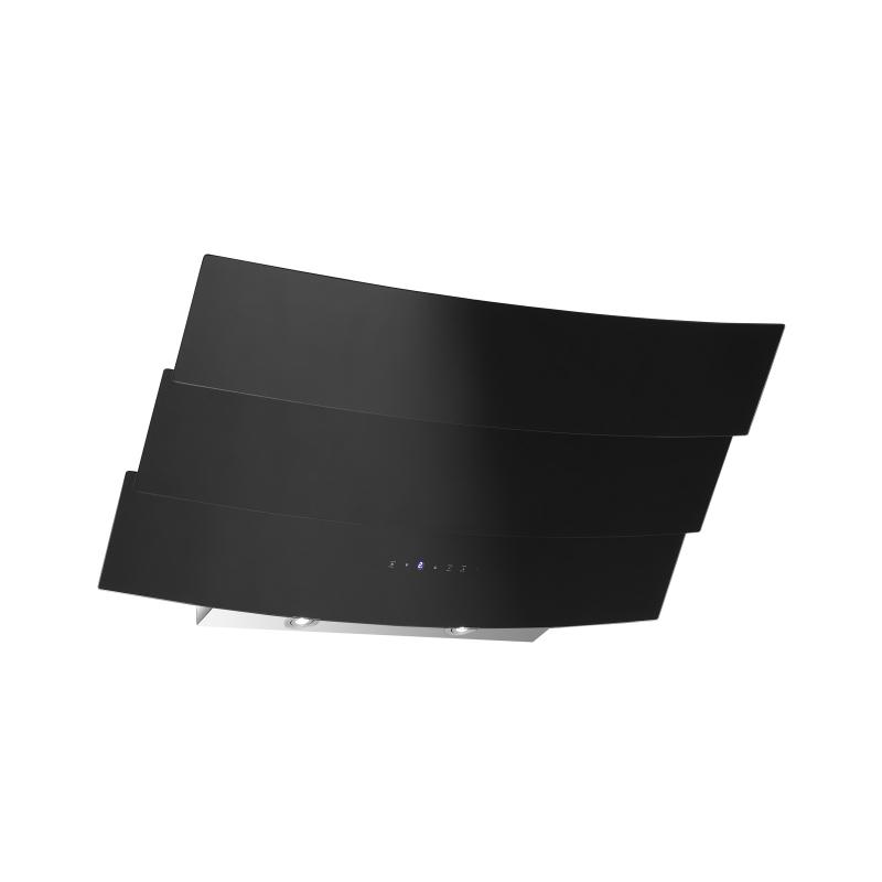 kopffreihaube almonda schwarz glas 90 cm umluft inkl 1 p kohlefilter ihmsen k chenger te. Black Bedroom Furniture Sets. Home Design Ideas